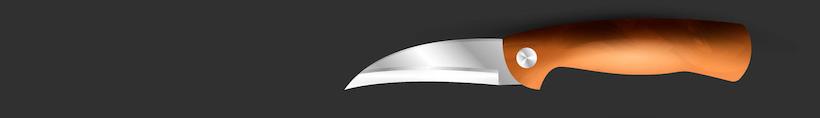 Knife with a bird's beak blade