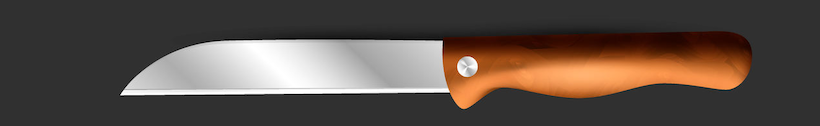 Knife with sheep's foot shaped blade