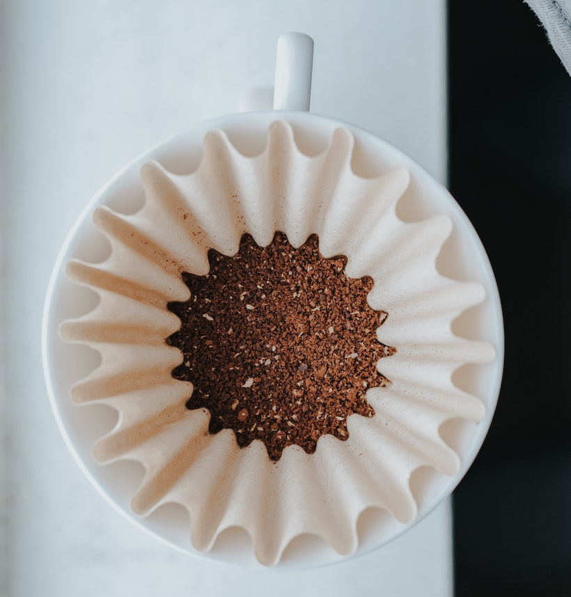 Coffee cup with filter inside