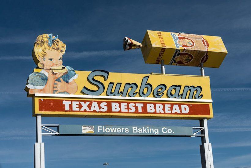 Sunbeam Bread Sign in El Paso, Texas