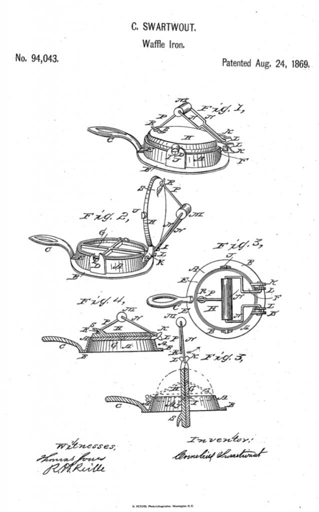 Cornelius Swartwout Waffle Iron Patent
