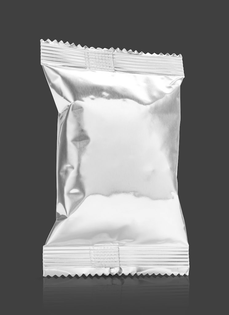 Blank packaging aluminum foil snack pouch