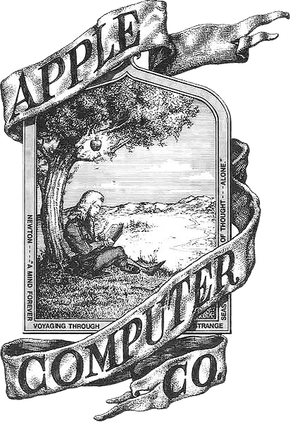 Apple Computer's first logo from 1976 drawn by Ronald Wayne