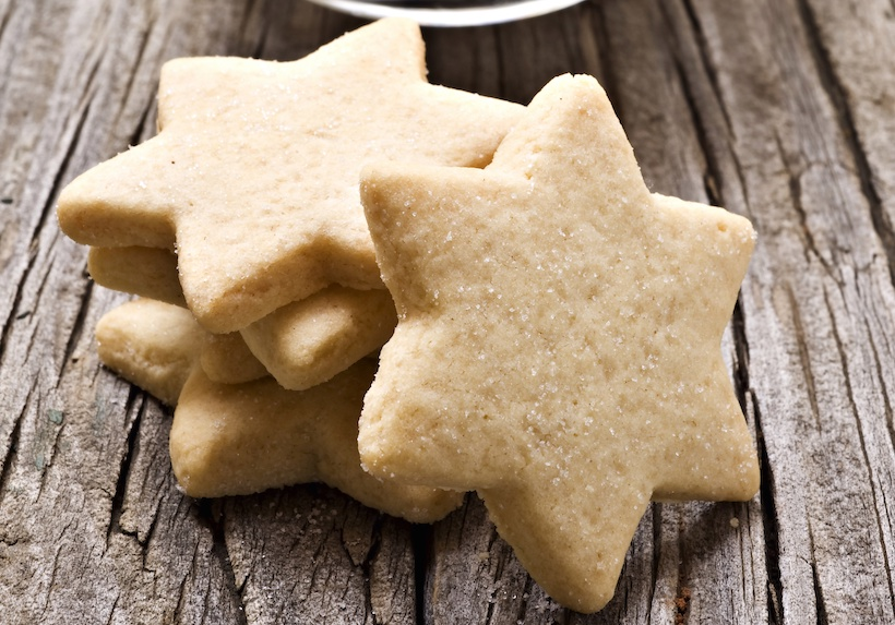 Star shaped shortbread cookies