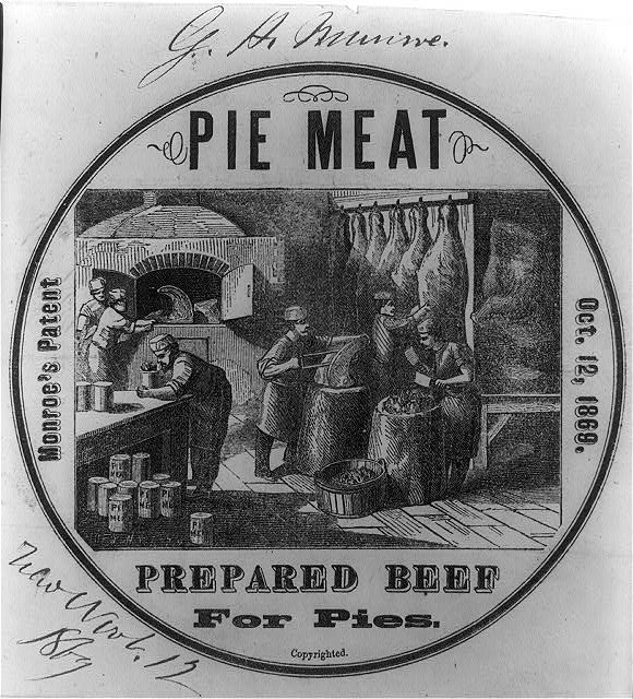Monroe's patented mince meat for pies